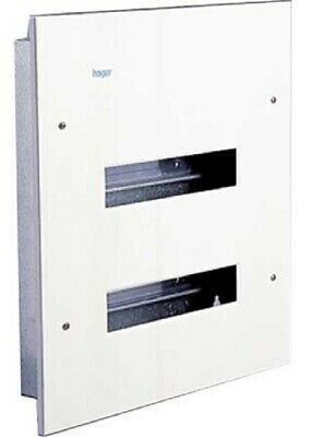 Hager METAL LOAD CENTRE 464x414x62mm 2-Row 24-Poles Recessed Mount *German Brand