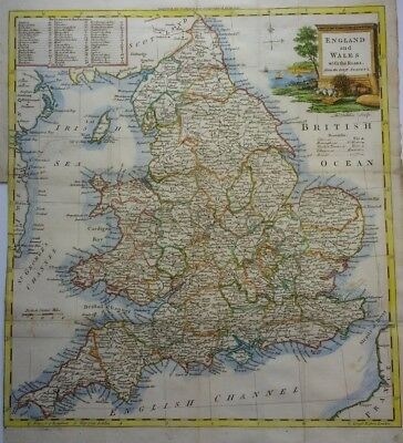 Antique map of England and Wales by Thomas Kitchin 1770