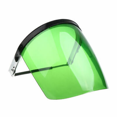 CN_ Safety Face Shield Mask Flip Up Visor Clear Sleeve Eye Cover Protect Green