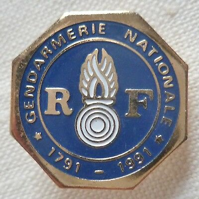 INSIGNE PINS GENDARMERIE NATIONALE RF France 1791/1991 ORIGINAL VINTAGE