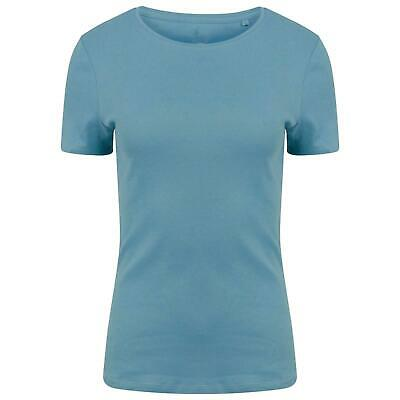 Womens Ladies EX M&S Pure Cotton Short Sleeve Crew Neck T-Shirt size 10-22