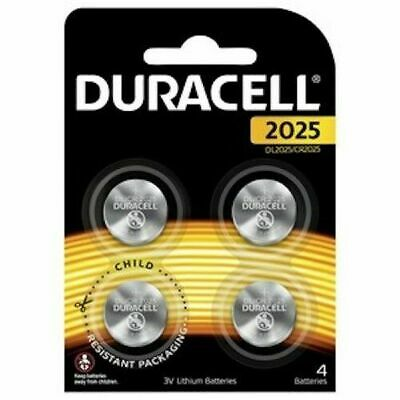 Duracell Lithium 3V Coin Batteries DL2025/CR2025  Pack of 4  Aus Stock Sealed