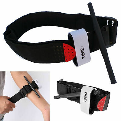 Black First Aid Tourniquet Medical Emergency Buckle Quick Slow Release Strap