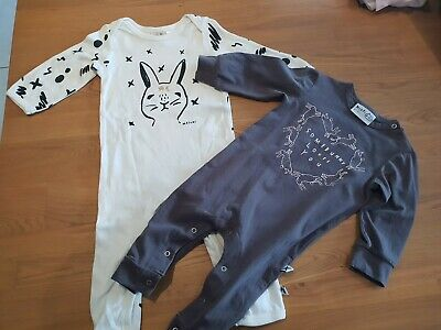 Minti and Milk & Matsuki Easter Rabbit Rompers- Size 0 6-12mths- Girls Boys