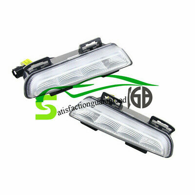 LED DRL Daytime Running Light White Fog Lamp Direct Fit For Smart Fortwo 13-15