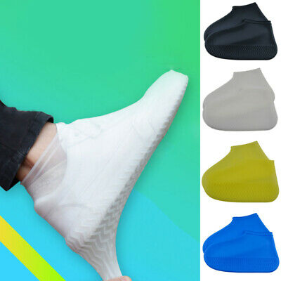 1 Pair Silicone Reusable Shoes Cover Waterproof Stretchy Shoes Protector Cover