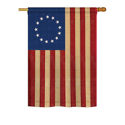 Betsy Ross Vintage - Impressions Decorative House Flag Set - HS108068-BO