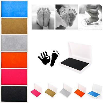 Baby Newborn Footprint Imprint Touch Ink Photo Handprint Safe Pad Frame Kit Tool