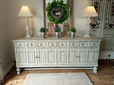 Large, French, grey, rustic, distressed sideboard/dresser
