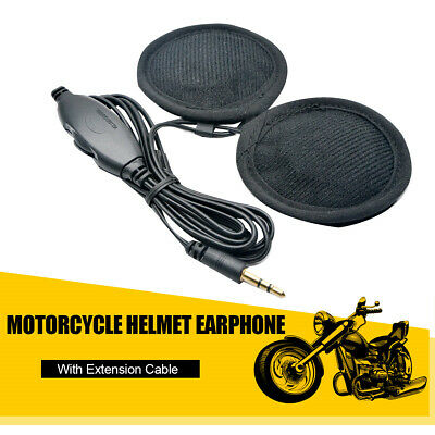 Jack 3,5mm Auricolare Cuffie Casco Earphone  HELMET per Moto INTERNO Scooter Hot