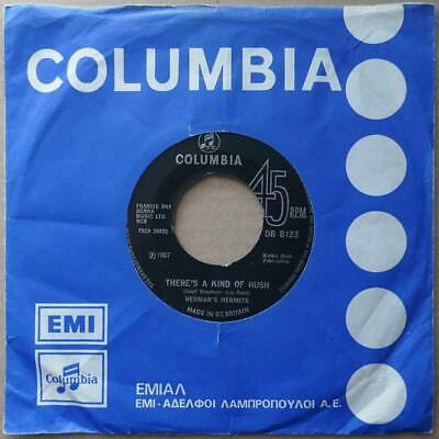 "7"" Herman's Hermits - There's A Kind Of Hush - England 1967 - VG++"