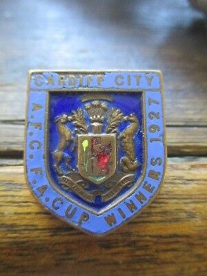 CARDIFF CITY Very rare vintage 1927 FA CUP WINNERS Badge