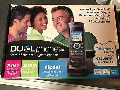 Dual Phone State Of The Art Skype Phone Cordless 3088 Tiptel !!!!