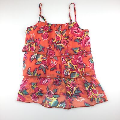 Girls size 7-8, The Children's Place, lightweight tiered floral top, GUC