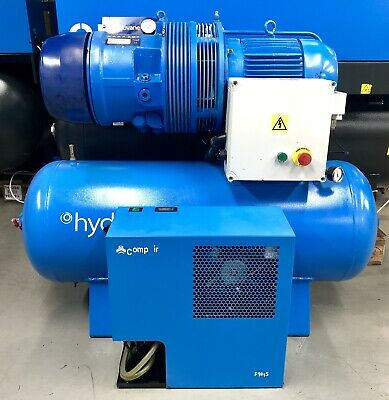 Hydrovane 705 Receiver Mounted Rotary Vane Compressor With Dryer! 5.5Kw, 27cfm!