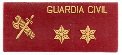 parche GUARDIA CIVIL TENIENTE ROJO grado de pecho, spain police patch