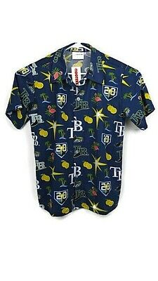 Tampa Bay Rays Baseball Hawaiian Shirt Medium 20th Anniversary Hooters NWT