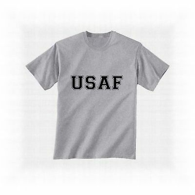 Usaf Air Force Tee Physical Training T-Shirt Sport Grey