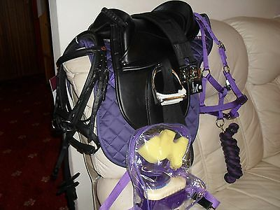 New Rhinegold  Cub Saddle Set,Saddle,Irons,bridle ect, PRICE REDUCED TO SELL WOW