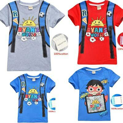 e6bf2e14e Ryan Toys Review kids T-Shirt Children tshirts Cotton Tee Tops party costume