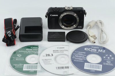 Canon EOS M2 18.0 MP Digital Camera Black Body [Excellent] from Japan (88-D27)