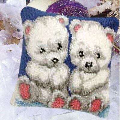 Animal Latch Hook Pillow Making Kits Crocheting Cushion Embroidery Package