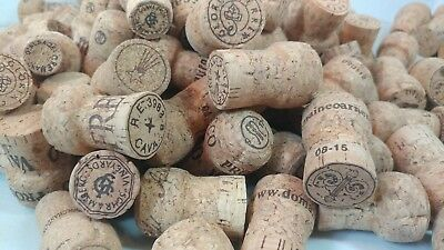 100 CHAMPAGNE CORKS all natural cork NO SYNTHETIC
