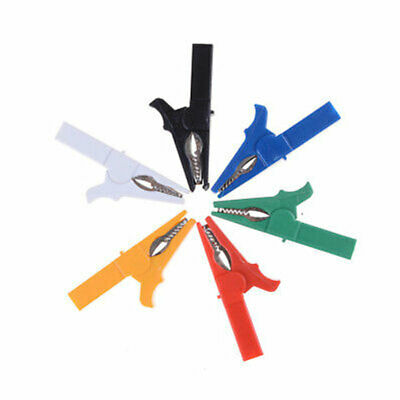 CN_ 2X 55mm Alligator Clips Crocodile Clips Cable small for banana plug Multi-