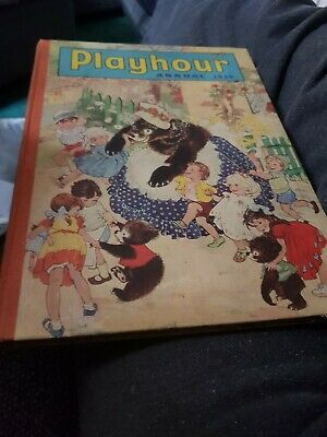 The Playhour Annual 1958 X VERY GOOD CONDITION FOR AGE X VERY RARE X 1806 X