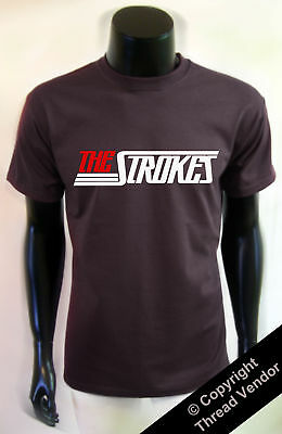The Strokes T-SHIRT NEW album logo - many colours retro indie rock band clothing