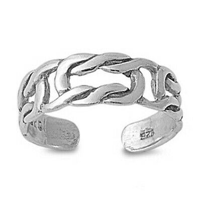 Silver Plain Celtic Knot Toe Ring Sterling Silver 925 Best Deal Jewelry Gift 5mm