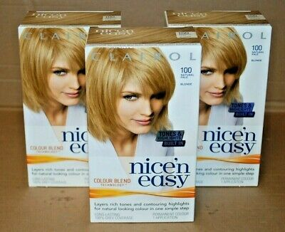 Clairol Nice'neasy - 100 - Natural Pale / Blonde - 3 Box - Free Delivery