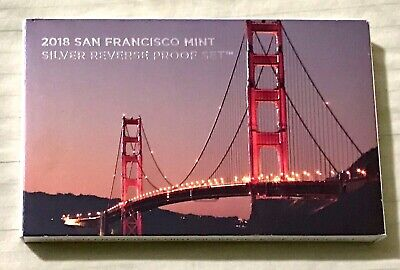 2018 REVERSE SILVER PROOF SET - US MINT San Francisco - (Low mintage) SOLD OUT!