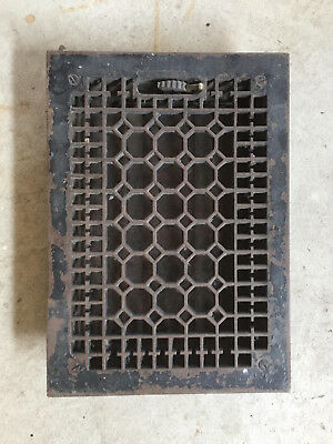 Cast Iron Heat Register-Complete With All Cast Iron Louvers And Mechanism