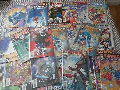 Archie Vintage Sonicthe Hedgehog Comics X 28 Issues Nice Condition Hedgehog