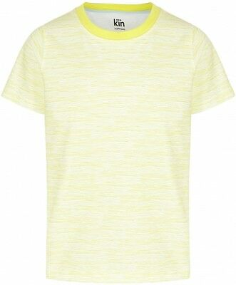*New* Kin By John Lewis Boys' Cut Edge Raglan T-Shirt, Yellow, Size 5Y Rrp £12