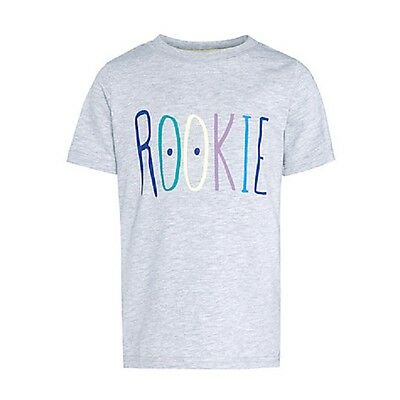 *New* Kin By John Lewis Boys Rookie T-Shirt, Grey, Size 2 Rrp £10