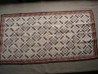 #711  Beautiful Vintage Hand Embroidered Table Runner 82cm/43cm(32''/17'')
