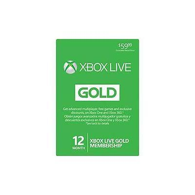Microsoft 12 Month Xbox Live Gold Membership Subscription *Email Delivery*