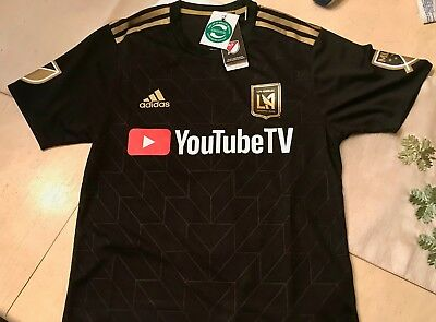 50b52adc3 Men s Large LAFC Carlos Vela Adidas Black 2018 Primary Replica Player Jersey