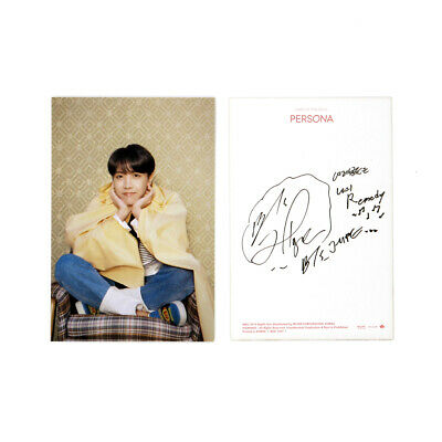 [BTS]MAP OF THE SOUL:PERSONA Album Official / Boy With Luv Postcard - J-HOPE