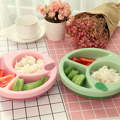 Baby Kids Feeding Learning Dishes Bowl Non-slip Warming Infant Tableware LH
