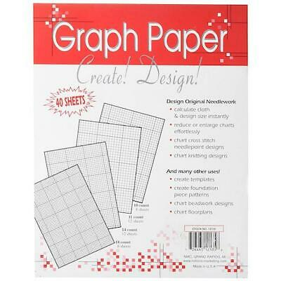 "Crafter's Helper 8½""x11"" Needlework Graph Papers 40pcs"
