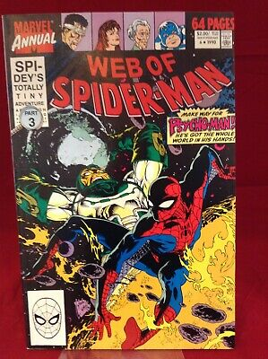 Web Of Spider-Man Annual #6 1990 Marvel Comics Spidey's Totally Tiny Adventure