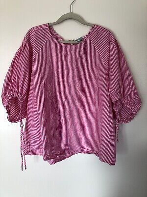 0c277a8b5 Womens Plus Target AVA   VIV Pink and White Striped Blouse Shirt - Size 3X