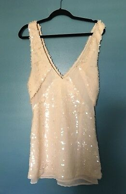a7e62ab2b1bd Nasty Gal Love Hangover Sequin Embellished Blush Party Dress - Size Small  NWT