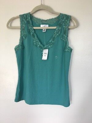 Womens Ann Taylor Loft Lace Trim Detail Sleeveless Cami Tank Top - Size XS NWT