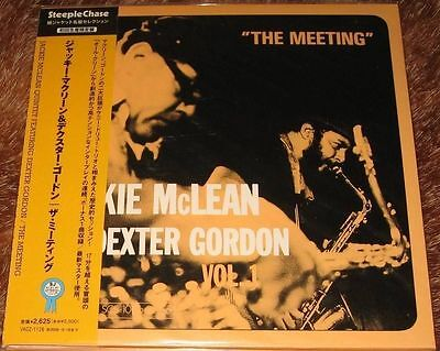 Jackie McLean Quintet w/ Dexter Gordon - The Meeting / JAPAN MINI LP CD 2008 NEW