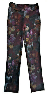 Pure Amici Floral Ponte Pull on Pants, Size XS