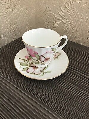 Vintage Salisbury Fine Bone China Floral Cup And Saucer
